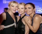 With the help of your ex-wife Reese, Salma managed to conquer and tame the beautiful Charlize Theron. Due to the difference in size Salma has decided to use it as her punching and stress bag to hit poor Charlize. Also the two are lovers. from lalla salma chikha moza