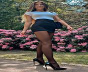 Tight Skirt and heels in the park. from big ass in tight skirt joi